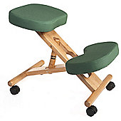 Modal Kneeling Chair with Wood Frame - Green