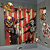 Scary Clown Decorations Scene Setter - 1.65m (32pk)