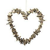 Parlane Large Hanging Natural Driftwood Heart Decoration - 35cm x 38cm