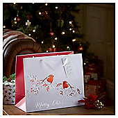 Large Robin Christmas Gift Bag