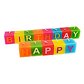 Bright & Colourful 'Happy Birthday' Celebration Candle Set