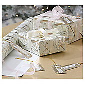 Gold Banner Script Christmas Gift Tags, 6 pack