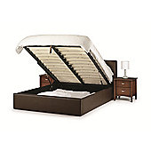 Storage Single Brown Leather Bed Frame