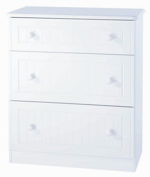 Welcome Furniture Coniston 3 Drawer Deep Chest - White