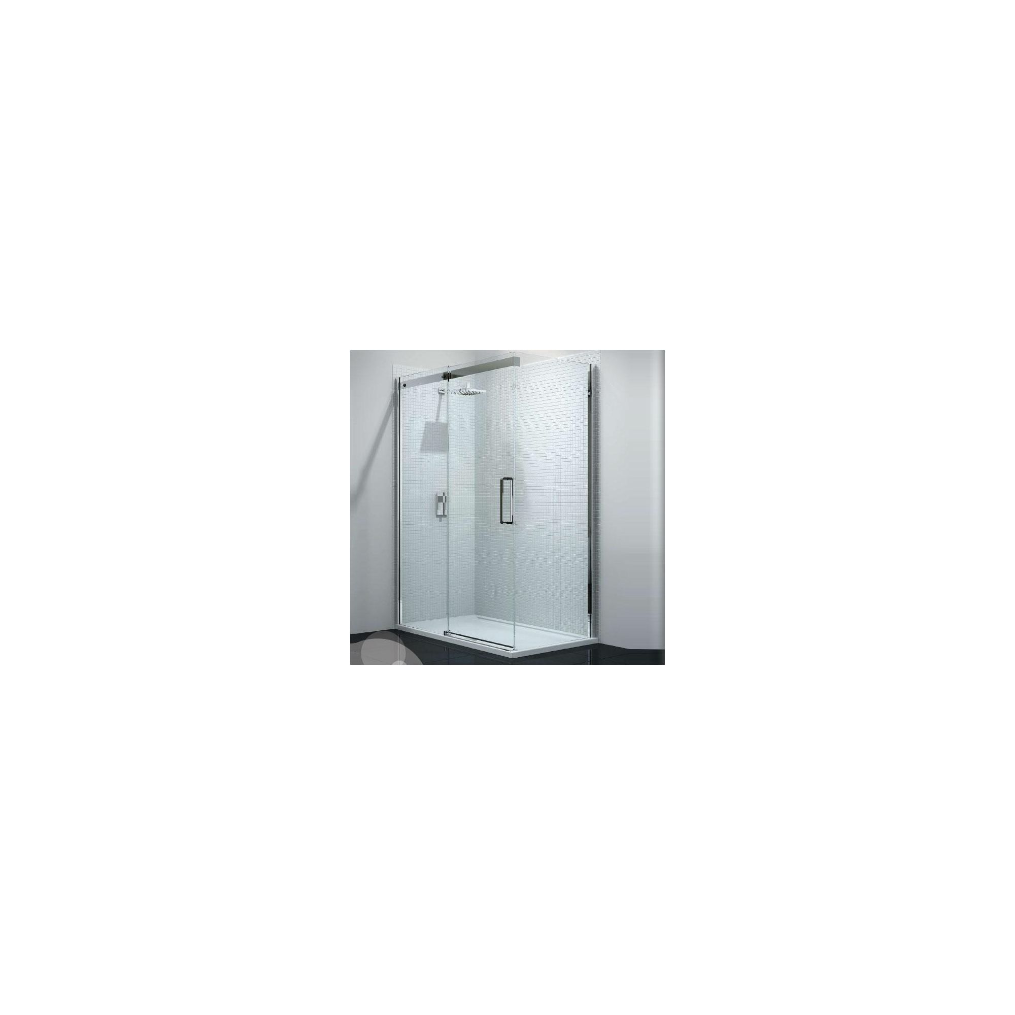 Merlyn Vivid Ten Sliding Door Shower Enclosure, 1200mm x 800mm, Low Profile Tray, 10mm Glass at Tesco Direct