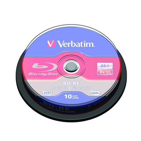 Verbatim 25 GB BD-RE Blu-ray Cake 10 Pack