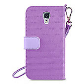 Belkin Wristlet Case Embossed/woven PU with magnetic tab and pockets for Samsung S4 in Orchid