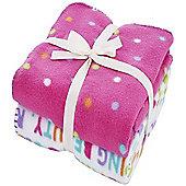 Multi Spot Fleece Blankets - Twin Pack