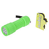 Summit Ultra Brite 9 LED Torch Green