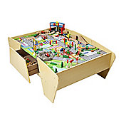Plum Train & Track Wooden Activity Table with Accessories