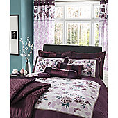 Catherine Lansfield Home designer collection Plum Corrine Curtains 168cm x 183cm