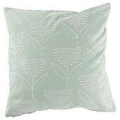 Retro Flower Cushion Green