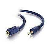 Cables to Go 0.5 m Velocity 3.5 mm M/F Stereo Audio Extension Cable - Black