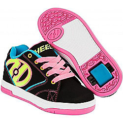 Heelys Propel 2.0 Black/Neon Multi Kids Heely Shoe - UK 3