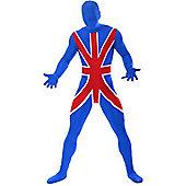 Morphsuit Union Jack - Adult Costume Size: 42-44