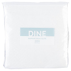 Tesco Value Napkins, 100 Pack