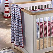 Izziwotnot Hide Away Bay Stroller Knitted Blanket, Moses/Crib/Pram - Blue