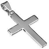 Urban Male Simple Stainless Steel Cross Pendant
