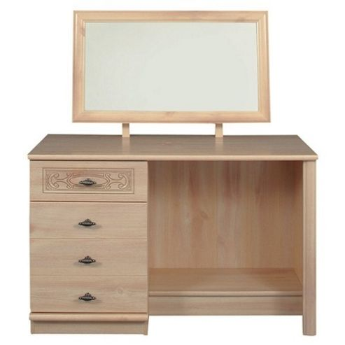 Caxton Florence Single Pedestal Dressing Table with Mirror
