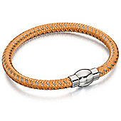 Fred Bennett orange and grey nylon bracelet