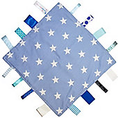 Dotty Fish Baby Tag Blanket - Blue Star
