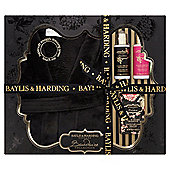 Baylis & Harding Boudoire Black Orchid With Fuchsia & Silk Gown Set