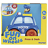 Fun on Wheels Press & Dash Vehicles Police Car