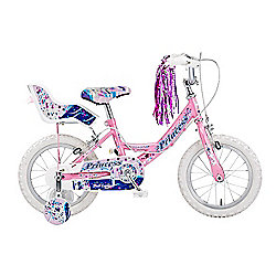 "Concept Princess 14"" Kids' Bike, Pink/Purple"
