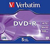 Verbatim DVD-R 4.7GB 16X 5 Pack