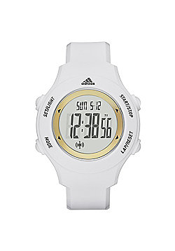 adidas Performance Sprung Basic Digital LCD Sports Watch White/Gold