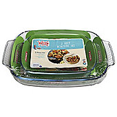 Pyrex 2 x rectangle roaster set