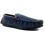 Slipper Club Sherlock 2 Navy Mens Moccasin Slipper