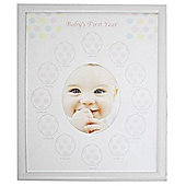 Babies First Year Monthly Photo Frame - White
