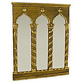 Papa Theo Triple Venice Mirror - Antique Gold / Yellow