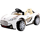 Kids Maserati Style Ride On Car With Remote Control - White