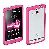 Sony Original Rubber Case Hard for Xperia U - Pink