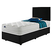 Silentnight Mirapocket 1200 Latex Non Storage Single Divan Charcoal with Headboard