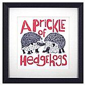 Animal Friends Framed Print - Hedgehogs