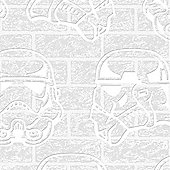 Star Wars Storm Trooper Paintable Brick Effect Embossed Wallpaper