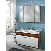 Posseik Salona 22 x 90cm Bathroom Mirror Cabinet - Anthracite