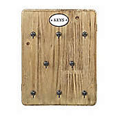 Parlane Natural Wooden Key Holder With 8 Hooks