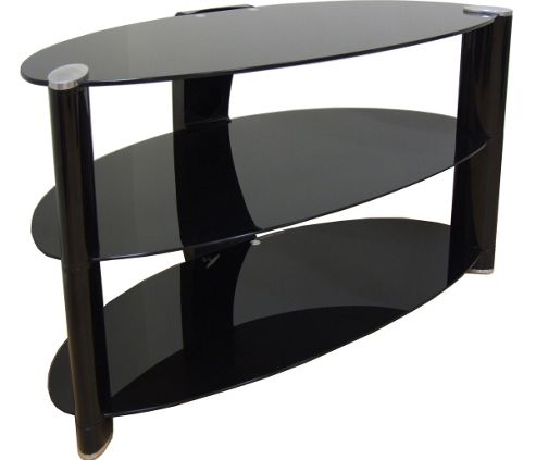 Buy Black Curved Glass TV Stand For TVs Up To 50 Inch From