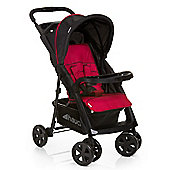 Hauck Shoppercomfort Pushchair, Black & Red