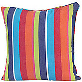 Homescapes Cotton Multi Coloured Stripe Scatter Cushion, 60 x 60 cm