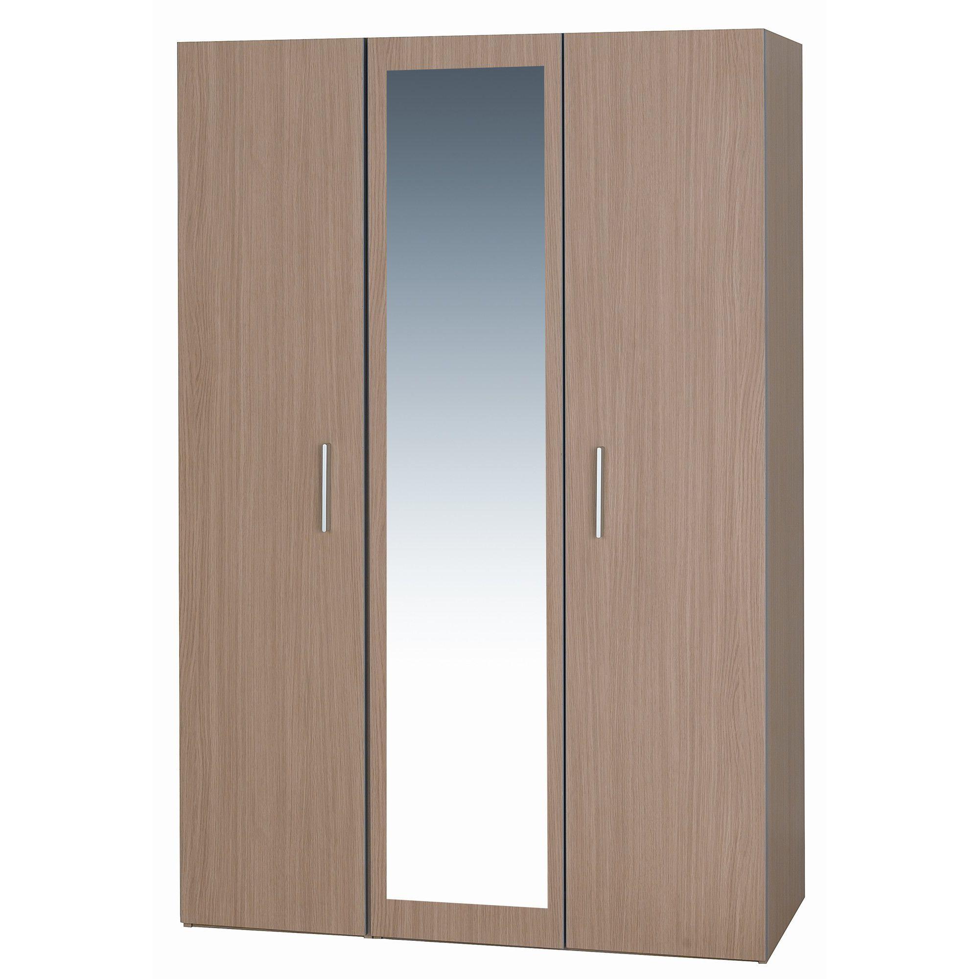 Alto Furniture Mode Oak Three Door Wardrobe at Tesco Direct