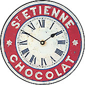 Roger Lascelles Clocks St. Etienne Chocolate Med Wall Clock