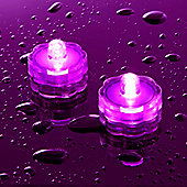 Pair of Pink LED Submersible Battery Tea Lights