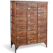 Oceans Apart Industrial Living 18 Drawers Apothecary Chest