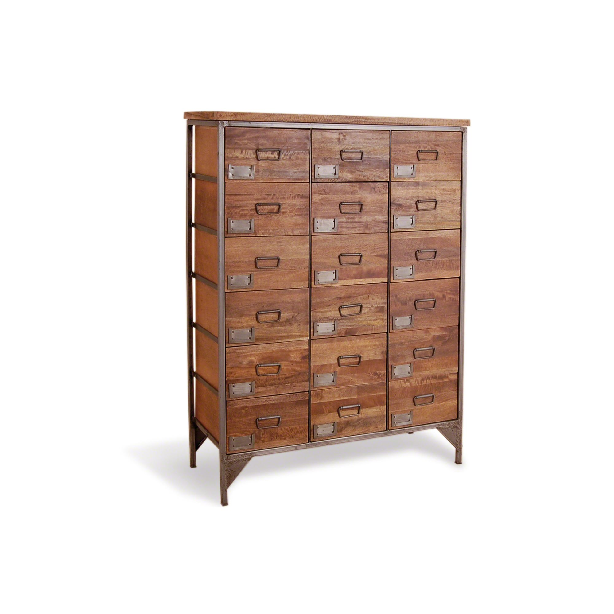 Oceans Apart Industrial Living 18 Drawers Apothecary Chest at Tesco Direct