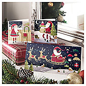 Tesco Santa And Co Scenes Christmas Cards, 24 Pack